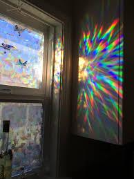 Artscape Magnolia Decorative Window Film by Decorative Window Film Holographic Prismatic Etched Glass Effect