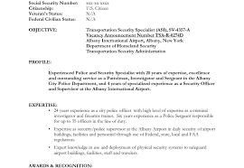 Security Supervisor Resume Sample