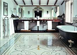 flooring ideas rustic bathroom mosaic tile flooring smart homes