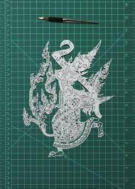 Thai Style Papercut Art Decor