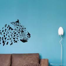 großhandel leopard kopf zweig wandaufkleber steuern dekor wohnzimmer sofa hintergrund wandtattoos vinilos paredes aufkleber muraux joystickers