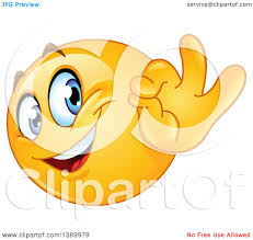 Clipart Of A Cartoon Yellow Smiley Face Emoji Emoticon Gesturing Ok