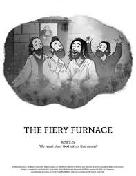 The Fiery Furnace With Shadrach Meshach And Abednego Sunday School Coloring Pages Amazing