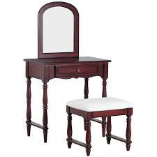 Powell Furniture 15A7033 Chadwick Vanity in Rich Cherry with Stool