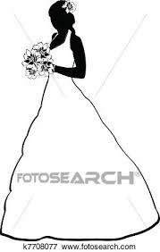 Clip Art Of Bride Silhouette K7708077