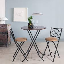 Amazon.com - FurnitureR Bar Table And Chairs Set Of 3 Wooden ...