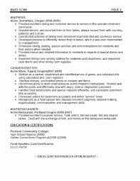 Catering Server Resume Fresh Unfor Table Servers Examples To Stand Out Myperfectresume