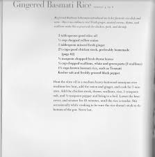 Barefoot Contessa Pumpkin Pie Filling by Gingered Basmati Rice From Make It Ahead By Ina Garten Barefoot