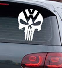 Punisher Skull Truck Car Vinyl Decal Window Sticker For VOLKSWAGEN ... Truck Window Decals Harley Davidson Trucks Graphics Best In Calgary For Cars Business High Quality Window Decals Auto Motors Intertional Moose Rear Graphic Decal Suv Clear Car Decalsclear Stickerscar Attn Ownstickers The Rear Or Not Mtbrcom Dodge Ram Head Vinyl Sticker Mopar Dodge Ram Unique 28 Sample Stickers And Eirasimprsoescom