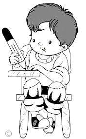 Student Writing Clipart Black And White