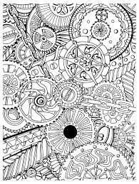 Free Coloring Page Adult Zen Anti Stress Mechanisms To