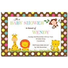 Cute Safari Animals Baby Shower Invitation Set Book Request