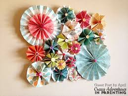 Vintage DIY Paper Rosette Wall Decor