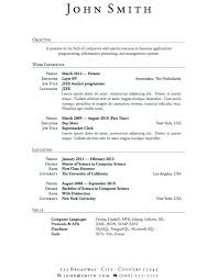 Resume Examples For Jobs 2013 Also Resumes Samples College Students With Little Experience In