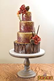 Rustic Chinese Wedding Cake