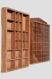 Vintage Wood Shadowbox Display Case Shelves For Thimbles Miniatures Collectibles