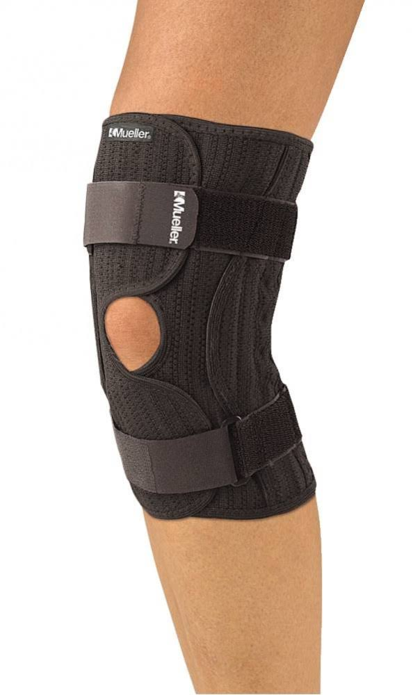 Mueller Sports Elastic Compression Knee Brace - Black, Large/XLarge