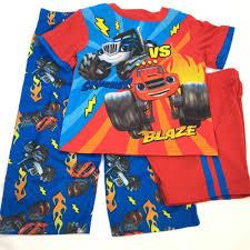 100 Monster Truck Pajamas Blaze Boys 2T 3 Piece Pajama Set Machines