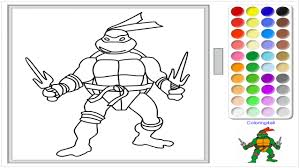 Ninja Turtles Online Coloring Raphael Game For Kids