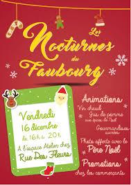 vendredi 16 décembre une nocturne au faubourg des trois maisons
