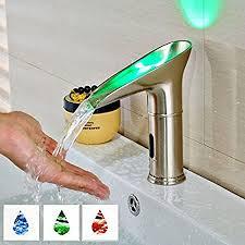 tourmeler luxus wasser sparende led becken faucet light