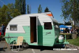 Classic 1956 Shasta Trailer Ready For Camping
