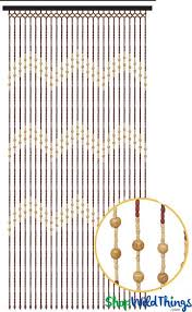 Doorway Beaded Curtains Wood by Hippie Wood Beads Curtain For Doors Windows U0026 Walls