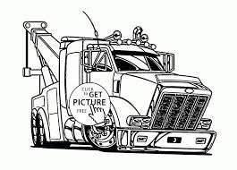 Semi Truck Coloring Sheets Tractor Trailer Coloring Pages Best Semi ...