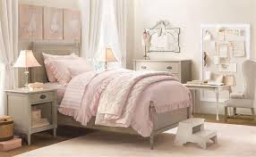 Bedrooms Little Girl Bedroom Ideas Pink Night Lamp Cream Rug Brown Wood Floor Grey Drawers White Table Bed Cover Pillow Painting Frame
