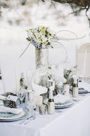 All White Wonderland Outdoor Winter Wedding Tablescape