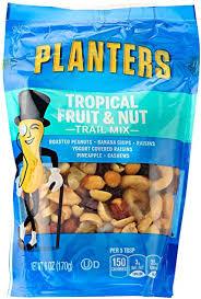 Amazon Planters Trail Mix Tropical Fruit & Nuts 6 oz Bag