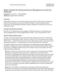 Service Desk Software Gartner Magic Quadrant by Gartner Magic Quadrant For Identity And Access Management As A