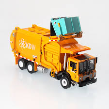 100 Diecast Garbage Trucks Front Loader Material Handler Truck 124 Scale Industrial