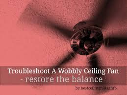 Wobbly Ceiling Fan Box by How To Balance A Ceiling Fan