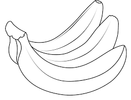 Fruit Coloring Pages Banana