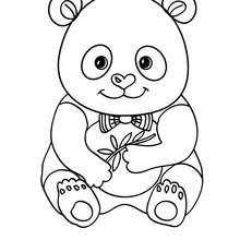 Cute Panda Coloring Page