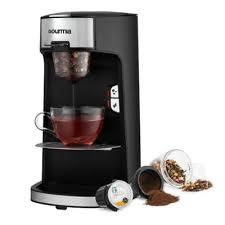 GourmiaR Single Serve Coffee Tea Maker In Black