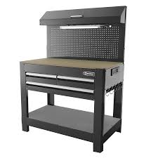 Kobalt Cabinets Extra Shelves by Shop Kobalt 45 In W X 36 In H 3 Drawer Wood Work Bench At Lowes