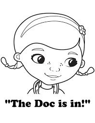 Doc Mcstuffins Coloring Pages The Is In