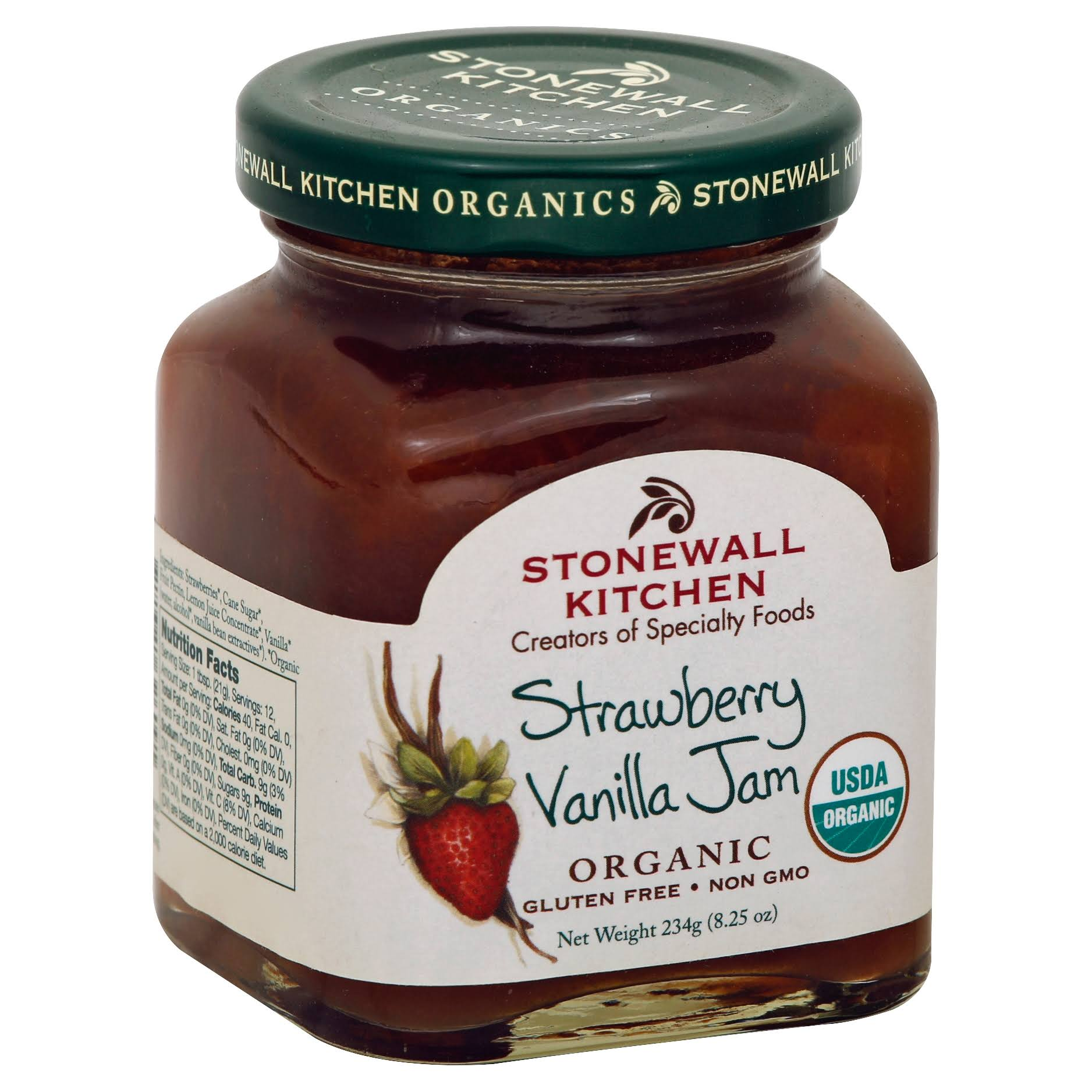 Stonewall Kitchen Organic Gourmet Jam - Strawberry Vanilla, 8.25oz
