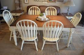 Farmhouse Living Room Chairs Elegant Dining Set With 6 And Extension Leaf