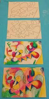 Kandinsky Inspired Art For Kids Step By Sharpie Oil Pastel