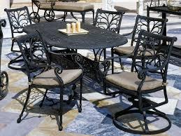 Suncoast Patio Furniture Replacement Cushions by Suncoast Patterned Square Aluminum 76 U0027 U0027 X 42 U0027 U0027 Oval Metal Dining