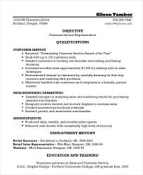 Customer Service Training Resume