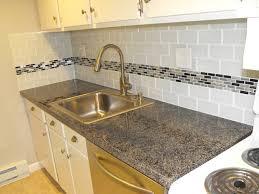 cool kitchen backsplash subway tile with accent