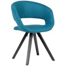 esszimmerstuhl petrol stoff mit schwarzen beinen retro stuhl küchenstuhl mit lehne polsterstuhl maximalbelastbarkeit 110 kg möbel und schönes