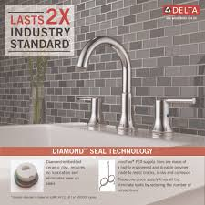 Delta Trinsic Widespread Bath Faucet by Delta Faucet 3559 Mpu Dst Trinsic Polished Chrome Two Handle