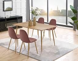leonique esszimmerstuhl eadwine polsterstuhl mit metallgestell im 2er und 4er set erhältlich beine in schwarz oder eichefarben