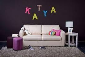 Fabric and Cardboard Wall Letters DIY Craft Projects