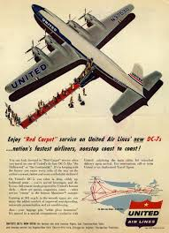 United Air Lines Enjoy Red Carpet 1954